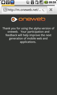 Oneweb 1.3 Mobile Software