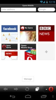 Opera Mobile Web Browser Varies Wit Mobile Software