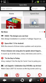 Opera Mini Web Browser Mobile Software