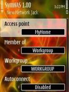 SymNAS For Symbian Phones V 1.00 Mobile Software