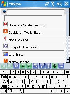 Minimo For Windows Mobile V 0.2 Mobile Software