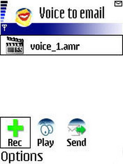 Berggi Voice To Email  For Java Phones V1.1 Mobile Software