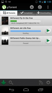 µTorrent Beta Torrent App For Android V 1.17 Mobile Software