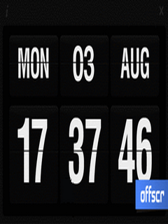 Flip Clock Touch For Symbian Phones V 1.00 Mobile Software