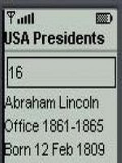 USA Presidents For Java Phones V 0.0.5 Mobile Software
