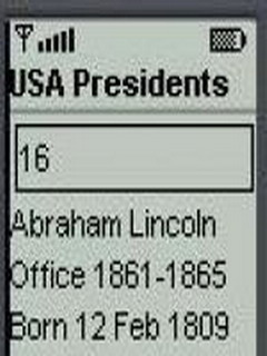 USA Presidents For Java Phones V 0.0.5 Mobile Software