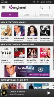 Anghami For Android Phones V 1.6.2 Mobile Software