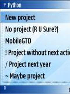 MobileGTD For Symbian Phone V 0.9.1 Mobile Software