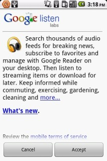 Listen V1.1.4 Mobile Software