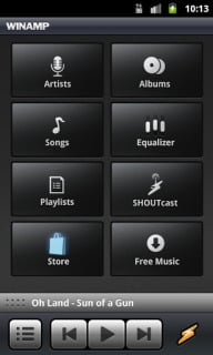 Winamp For Android Phones V1.4.11 Mobile Software