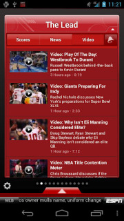 ESPN ScoreCenter For Android Phones V3.2.1 Mobile Software