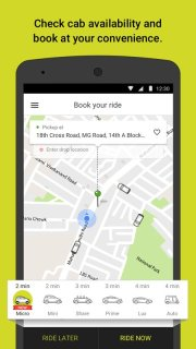 Ola Cabs Taxi Auto Car Rental Share Booking Android Apps Mobile Software