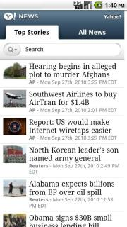Yahoo! News 0.9.4.2 Mobile Software