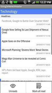 Google News Reader For Android V1.5.1 Mobile Software