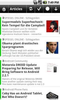 NewsRob Google Reader RSS For Android V 4.8.2 Mobile Software