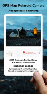 GPS Map Polaroid Camera: Add Geotag & Timestamp Mobile Software