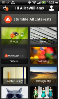 StumbleUpon Android Phones V 3.0.1 Mobile Software