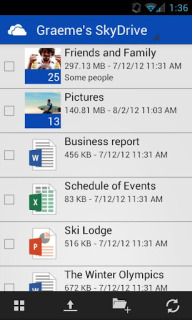 SkyDrive For Android Phones V1.1 Mobile Software