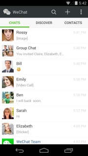 WeChat For Android Phones V 5.2 Mobile Software