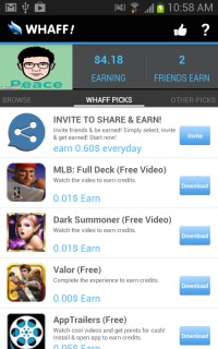 WHAFF Rewards 210 Android Apps Apk Mobile Software
