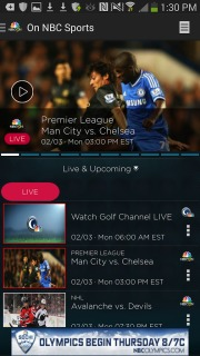 NBC Sports Live Extra For Android Phones V 1.3.0 Mobile Software