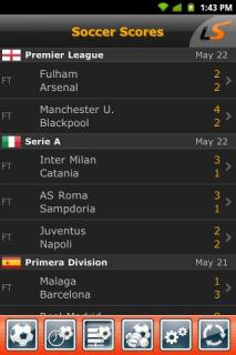 LiveScore For Android Phones V 2.0.4 Mobile Software
