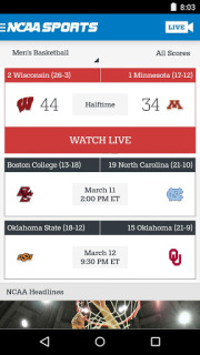 NCAA Sports Mobile Software