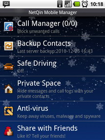 NetQin Mobile Manager For Android Mobile Software