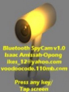 Bluetooth SpyCam Mobile Software