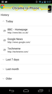 Google Chrome To Phone For Android V2.3.2 Mobile Software
