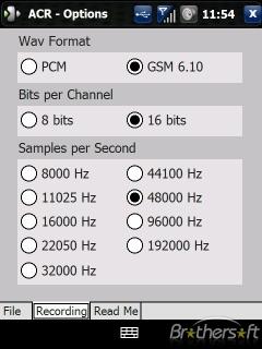 Auto Call Recorder For Windows Mobile V1.2.3 Mobile Software