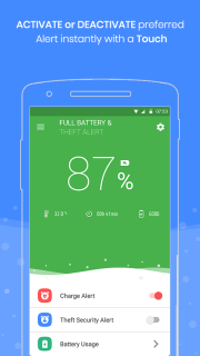 Full Battery Charge Alarm And Theft Security Alert Mobile Software