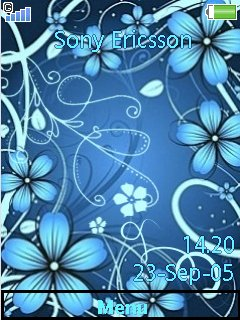 FlowerBlue By Liina Mobile Theme