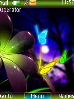 Neon Butterfly Mobile Theme