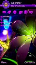 Night Flower By Beach Mobile Theme