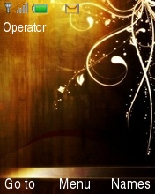 Abstract Gold Mobile Theme