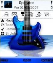 Blue Strings Mobile Theme