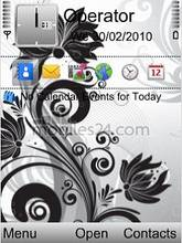 Abstract Flower Mobile Theme