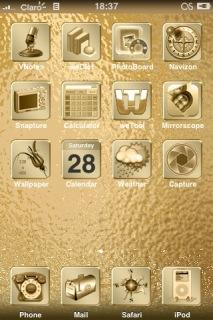 Gold Deluxe Theme Mobile Theme