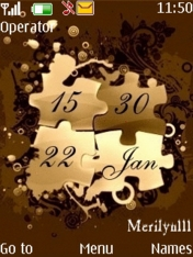Bronze Digital Clock Nokia S40 Theme Mobile Theme