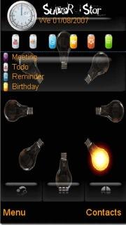 Animated Bulb Mobile Theme