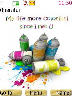 Colourful Life Nokia Theme Mobile Theme