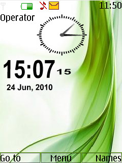 Abstract Clock Nokia Theme Mobile Theme