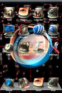 3D IPhone Theme Mobile Theme