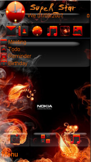 Fire Flower Nokia Theme Mobile Theme