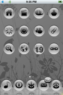Black And White Apple IPhone Theme Mobile Theme