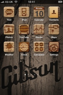 Gibson Wood Apple IPhone Theme Mobile Theme