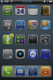 My Glass Sol IPhone Theme Mobile Theme