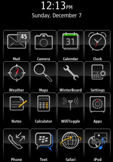 Semi Blackberry Apple IPhone Theme Mobile Theme