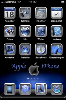 Apple Blue Apple IPhone Theme Mobile Theme